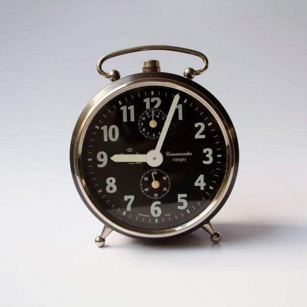 Black Vintage Peter 'Commander' Niteglo Alarm Clock