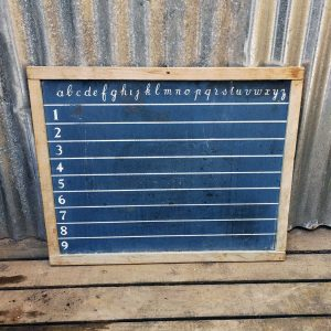 Vintage French Childrens Chalk Blackboard