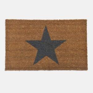 Coir Indoor Star Doormat With Grey Star - DMCO03