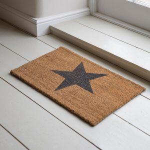 Coir Indoor Star Doormat With Grey Star – DMCO03