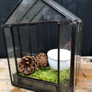 Light Living Deco Berogy Terrarium Metal Glass Green House
