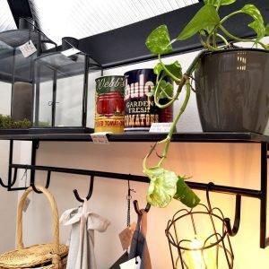 Light & Living Maynas Zinc Headstand Coat Hook & Shelf