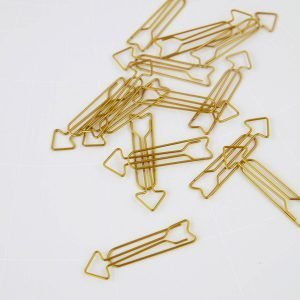 Monograph Large Gold Arrow Paper Clips Pack of 15 – MGNK015