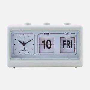 Monograph Multifunction Grey Retro Clock With Alarm And Calendar - MGEA0401