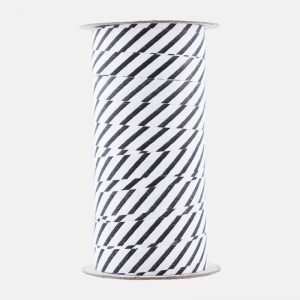Monograph Stribe Stripped Black And White Ribbon - MGMT0521