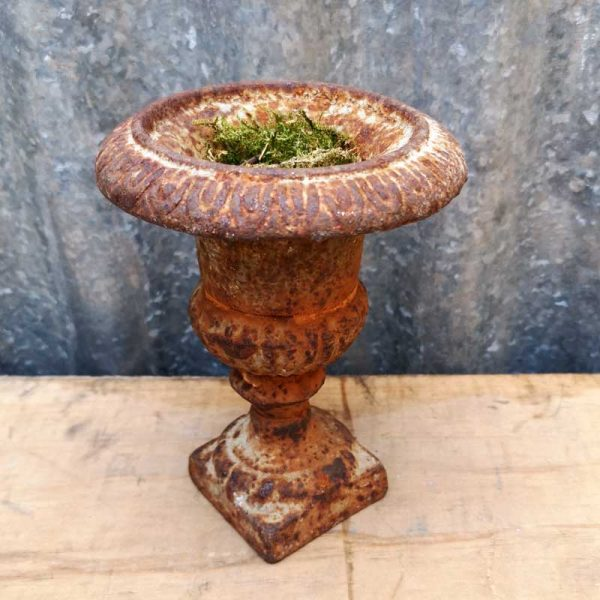 Vintage Cast Iron Mini Decorative Urn