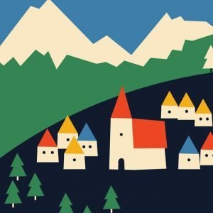 Anna Kovecses Mountains Card Close Up