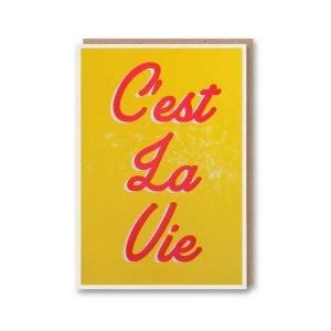 C'est La Vie Letterpress Card