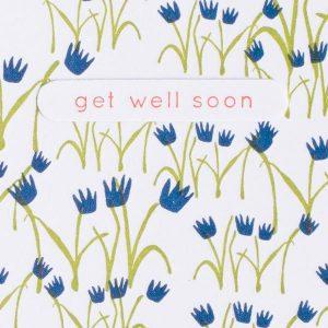 Egg press get well soon tulips letterpress greeting card grande card