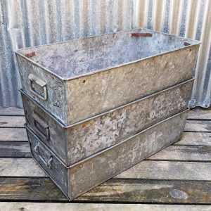 Galvanised Long Industrial Stacking Storage Tray