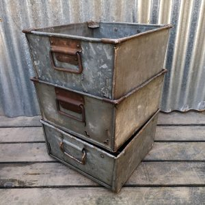 Galvanised Square Industrial Stacking Storage Trays