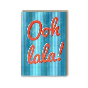 Ooh La La Letterpress Card