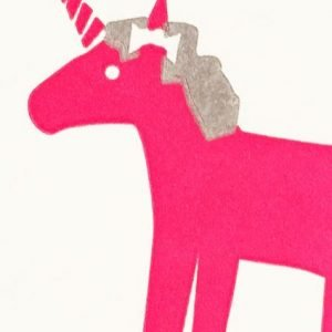 Bits And Bobs Unicorn Card