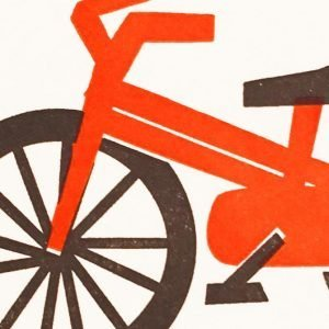 Bike Letterpress Mini Card