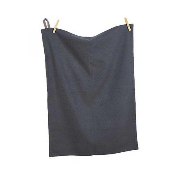 Gun Metal Grey Cotton Tea Towel