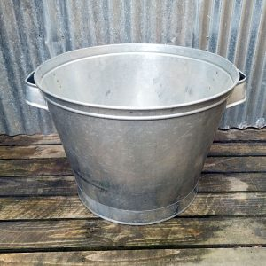 Large Industrial Galvanised Tubs