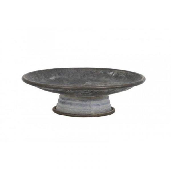 zinc pedestal dish