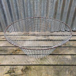 Large Round Vintage Mesh Basket