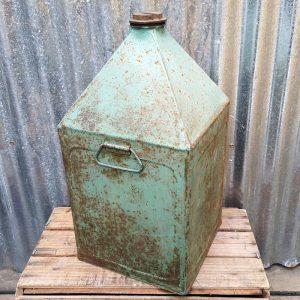 Vintage Metal Green Oil Can