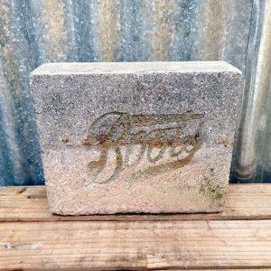 Vintage Stone Boots Shop Sign