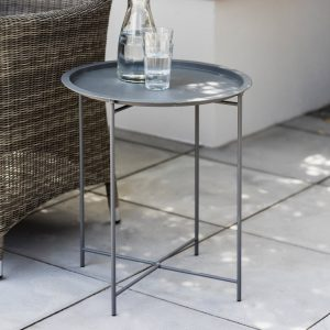 Grey Fold Away Bistro Tray Table