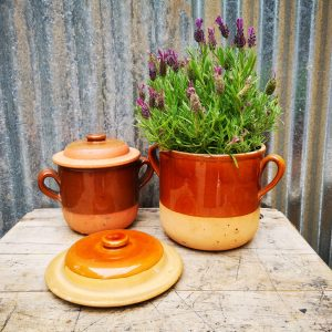 Vintage French Earthware Pot