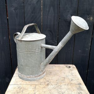 Vintage French Galvanised Watering Can
