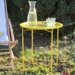 Yellow Fold Away Bistro Tray Table