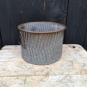 Zinc Round Flower Pot Planter