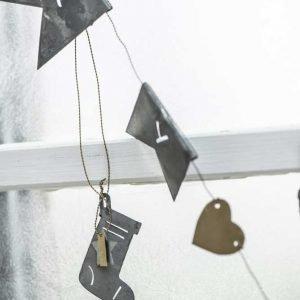 Hanging Metal Stocking Christmas Decoration