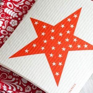 Big Red Star Eco Dish Cloth