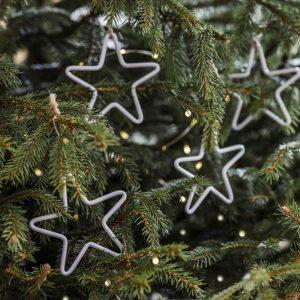 White Hanging Steel Stars