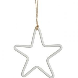 White Hanging Steel Star