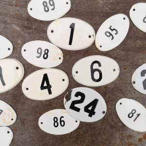 Large French Enamel Numbers