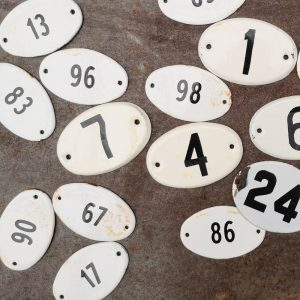 Small French Enamel Numbers
