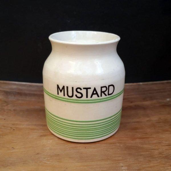 Vintage Mustard Storage Jar