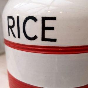 Vintage RICE storage jar