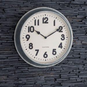 Galvanised Steel Indoor Outdoor Clock