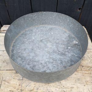 Large Galvanised Round Tray