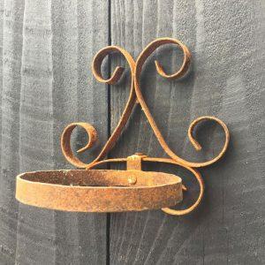 Ornate Metal Wall Mounted Pot Holder (Small)