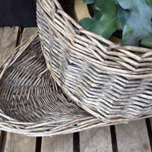 Vintage Wicker Potato Storage Basket