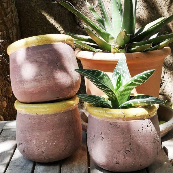 Rustic Ochre Plant Pot