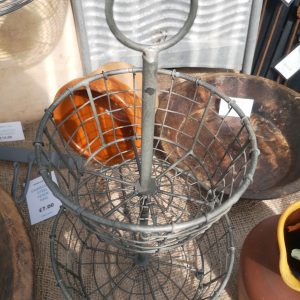 Two Tier Vigo Zinc Basket