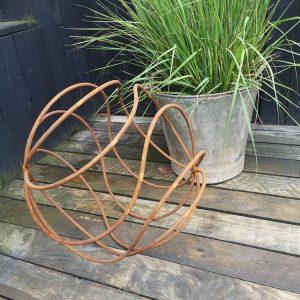 Rustic Decorative Metal Garden Orb