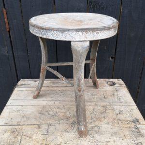 Vintage Galvanised Milking Stool