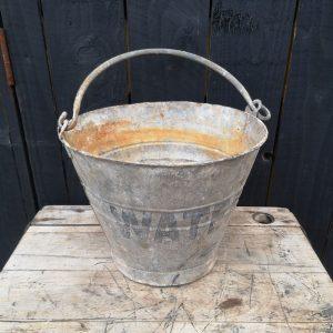 Vintage Galvanised WATER Bucket
