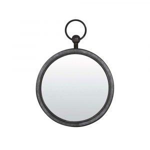 Zinc Round Hanging Mirror 36 x 42 x 5cm