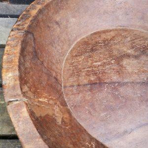 Vintage Hand Carved Wooden Bowl (Large)
