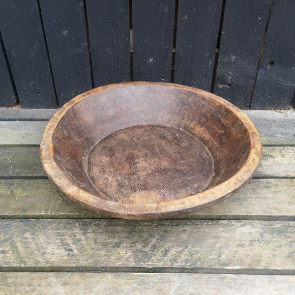 Vintage Hand Carved Wooden Bowl