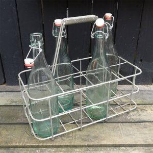Vintage Metal 8 Bottle Holder